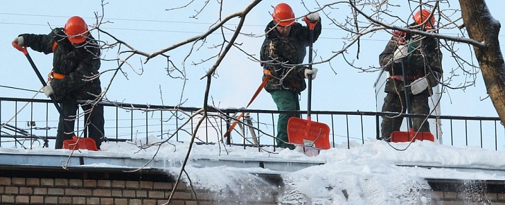 Очистка снега с крыши в уфе